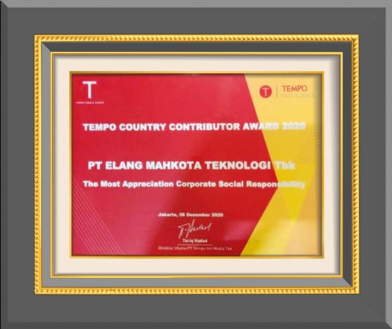 The Most Appreciation Corporate Social Responsibility TEMPO - 2020